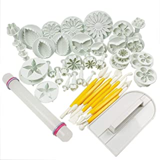 Cake Tools Flower Fondant Cake Sugar craft Decorating Kit Cookie Mould Icing Plunger Cutter Tool 46 pcs
