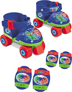 PJ Masks Roller Skates,Adjustable +Elbows & Knees Pads Set,Official Licensed.
