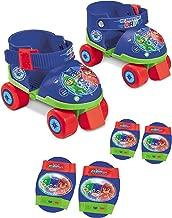 PJ Masks Roller Skates,Adjustable +Elbows & Knees Pads Set,Official Licensed.