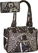 Western Embroidered Buckle Handbag Purse Wallet Set