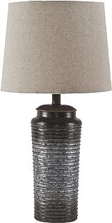 Ashley Furniture Signature Design -  Norbert Table Lamp - Urban Industrial - Gray