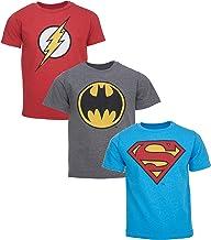 DC Comics Justice League Batman Superman The Flash 3 Pack T-Shirts