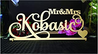 Personalized Mr and Mrs sign Custom Wedding Sweetheart Table Decor Wedding Name Sign
