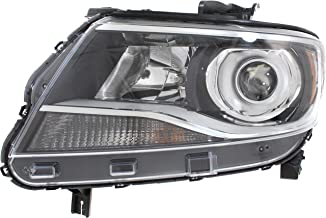 Headlight Compatible with CHEVROLET COLORADO 2015-2017 LH Assembly Halogen Projector Type (LT with Luxury Package)/Z71/ZR2 Models