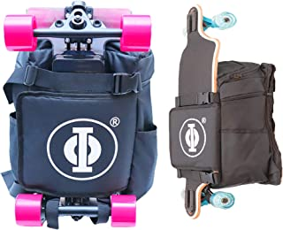 Electric Skateboard or Regular Skateboard Longboard Backpack Bag Carrier for Any Size Board with Laptop Case and Large Storage Compartments for School, Work, or College
