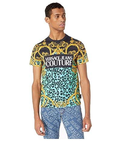 Versace Jeans Couture Leo Chain Print Logo T-Shirt (Pure Mint) Men