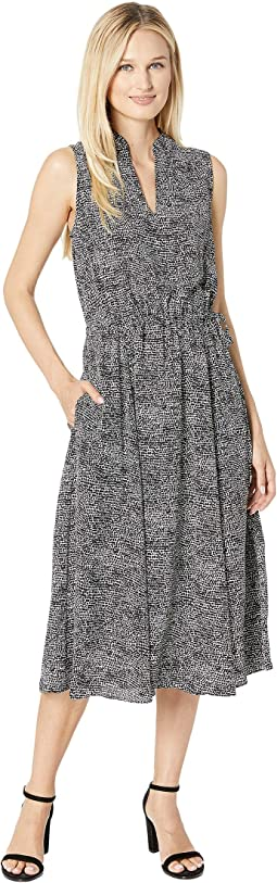 Basie Printed Drawsting Midi Dress