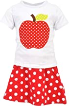 Unique Baby Girls Back to School Apple Skirt Boutique Outfit