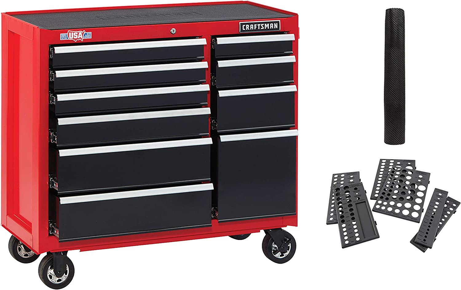 Craftsman Tool Cabinet with Drawer Liner Roll & Socket Organizer