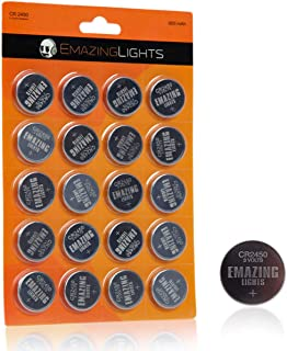 CR2450 Batteries 20 Pack 3V Lithium Button Cell Battery Pack EmazingLights