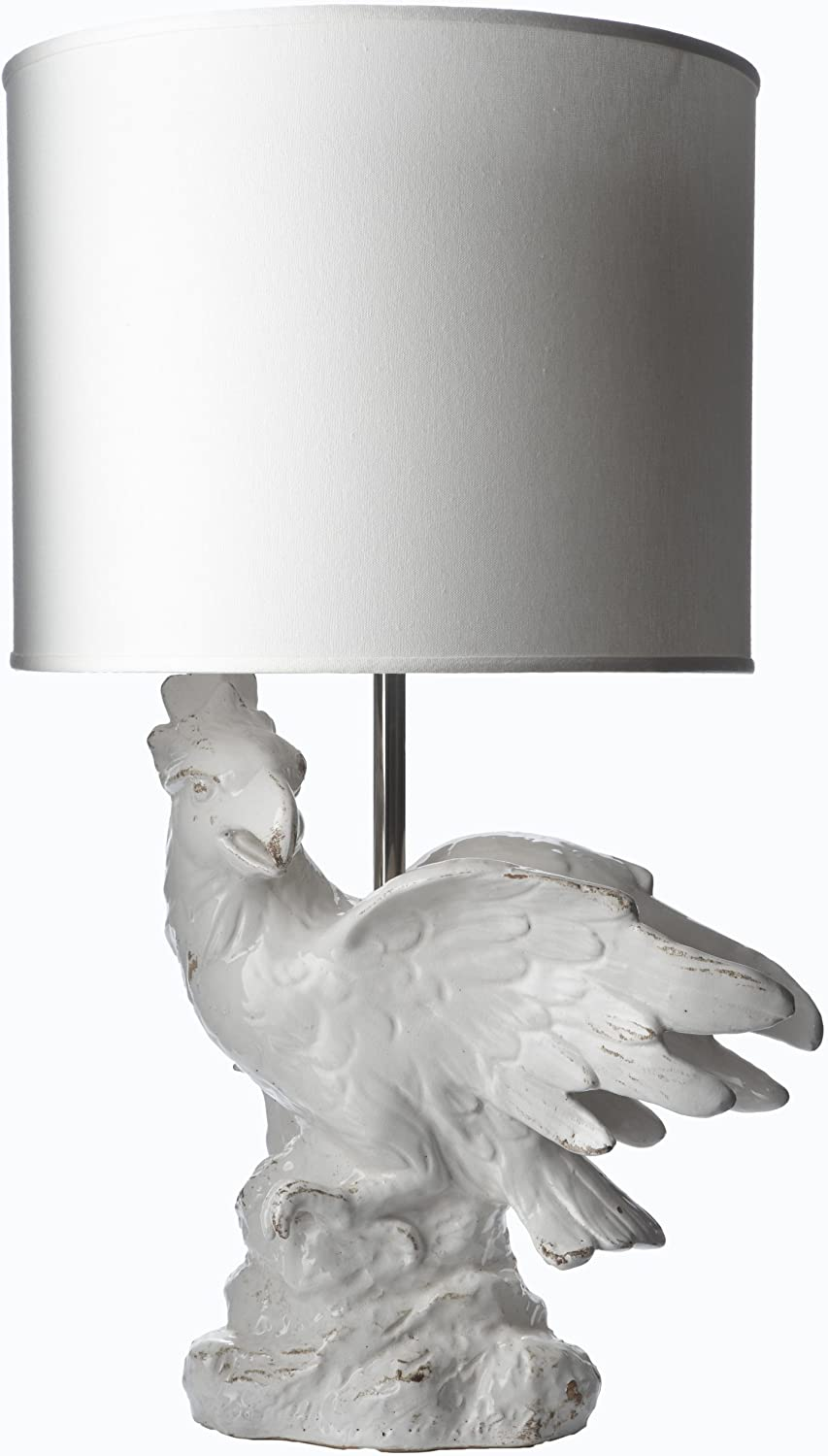 Lazy Susan Sales results No. 1 Cockatoo Ceramic Lamp Shade White with Inexpensive Fabric
