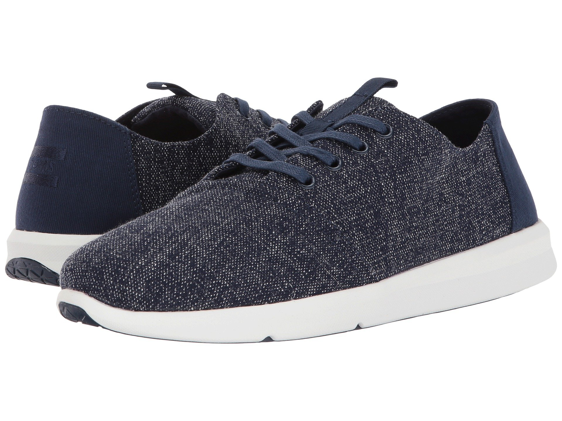 Toms  , NAVY TWO-TONE WOVEN