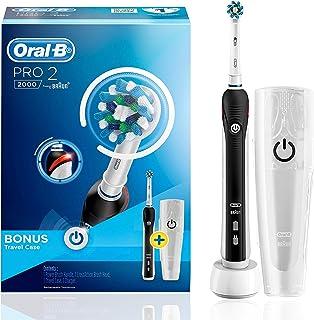 Oral-B Pro 2000 Black Electric Toothbrush + Travel Case