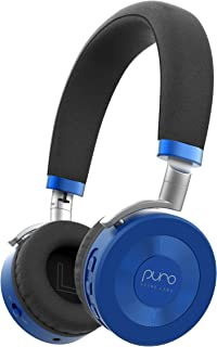 Puro Sound Labs JuniorJams On-Ear Headphones Wireless Foldable Kids Earphones with Bluetooth, Volume Limiting, Lightweight and Noise Isolation for Smartphones/PC/Tablet – JuniorJams (Blue)