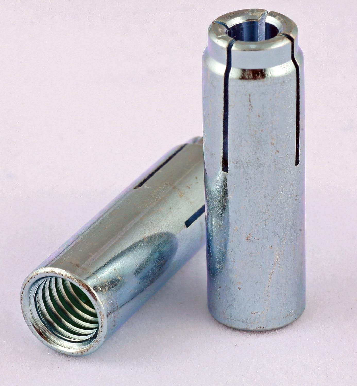 5 popular 3 8-16 Drop-In Anchors Pack Direct stock discount 100 Zinc Steel