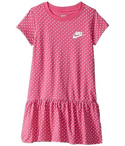 Nike Kids Dot Print Dress (Little Kids) (Laser Fuchsia) Girl