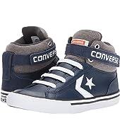 Converse Kids - Pro Blaze Strap Leather and Suede - Hi (Little Kid/Big Kid)