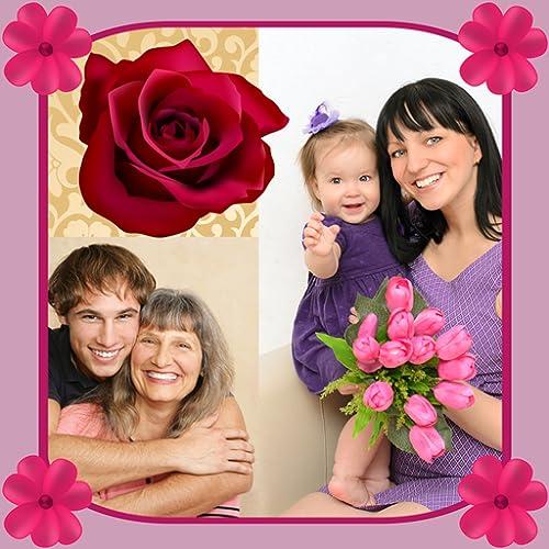 Colagem da foto do dia das mães