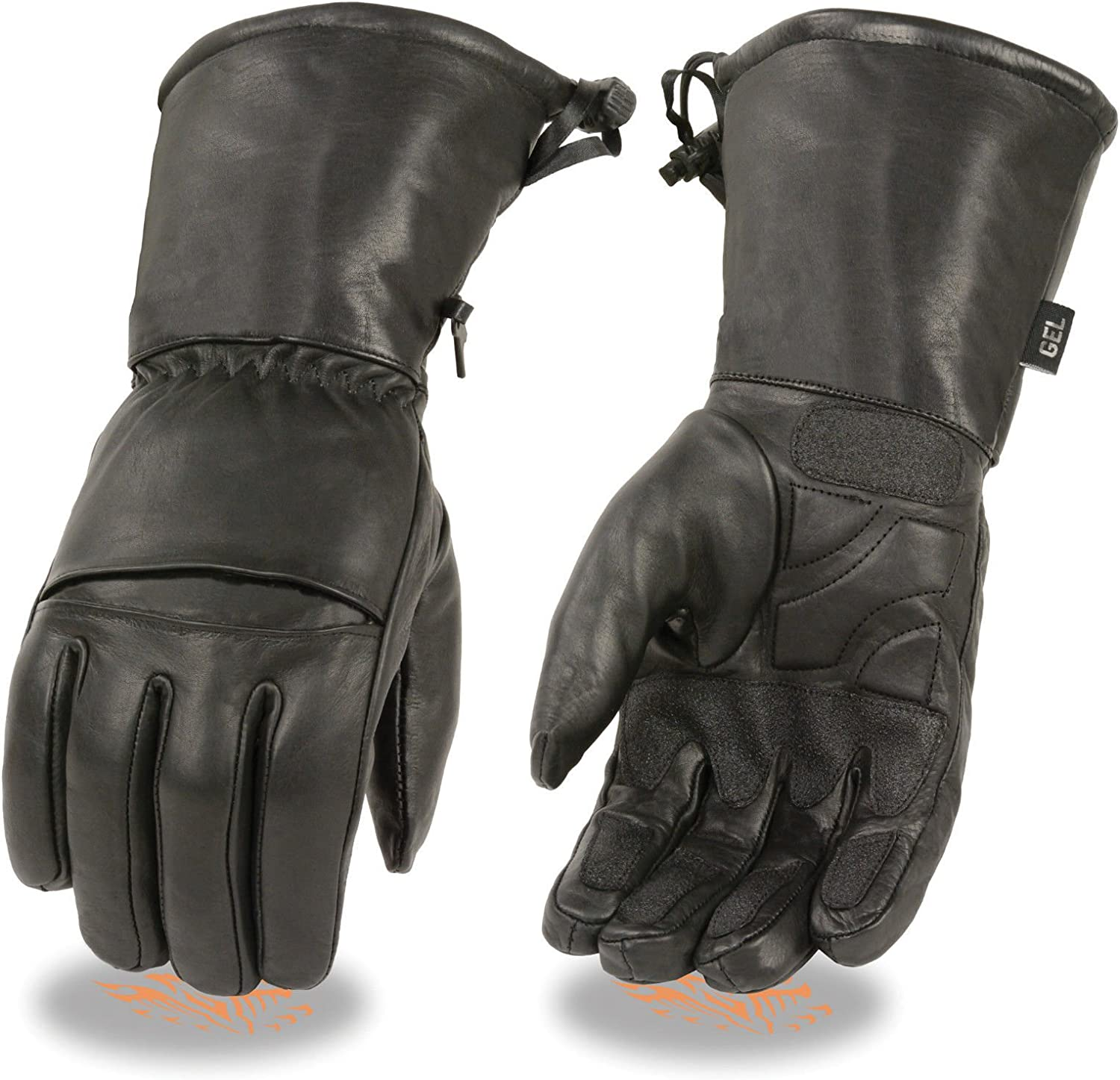 35% OFF Shaf Motorcycle Men's Shipping included Long Real Guantlet Gel Palm Leather Gloves