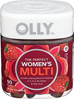 OLLY The Perfect Womens Gummy Multivitamin, 45 Day Supply (90 Gummies), Blissful Berry, Vitamins...
