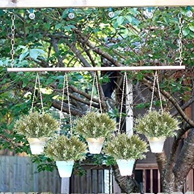 Nahuaa 4PCS Artificial Greenery Shrubs Bushes Fake Outdoor Plant Branches Plastic Faux Herb Bundles Table Centerpieces Arrangements Home Kitchen Office Windowsill Spring Decorations