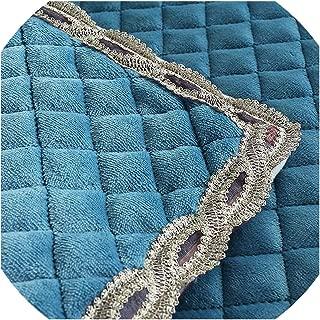 PearlMilkTea001 1 Piece Sofa Cover Plush Winter Sofa Towel Warm Slip Resistant Slipcover Seat Couch Cover 20cm Lace Edge,Blue,9090cm