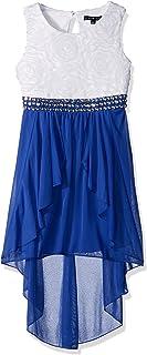 فستان ماي ميشيل للفتيات كبير ومنخفض الارتفاع ومجوهرات