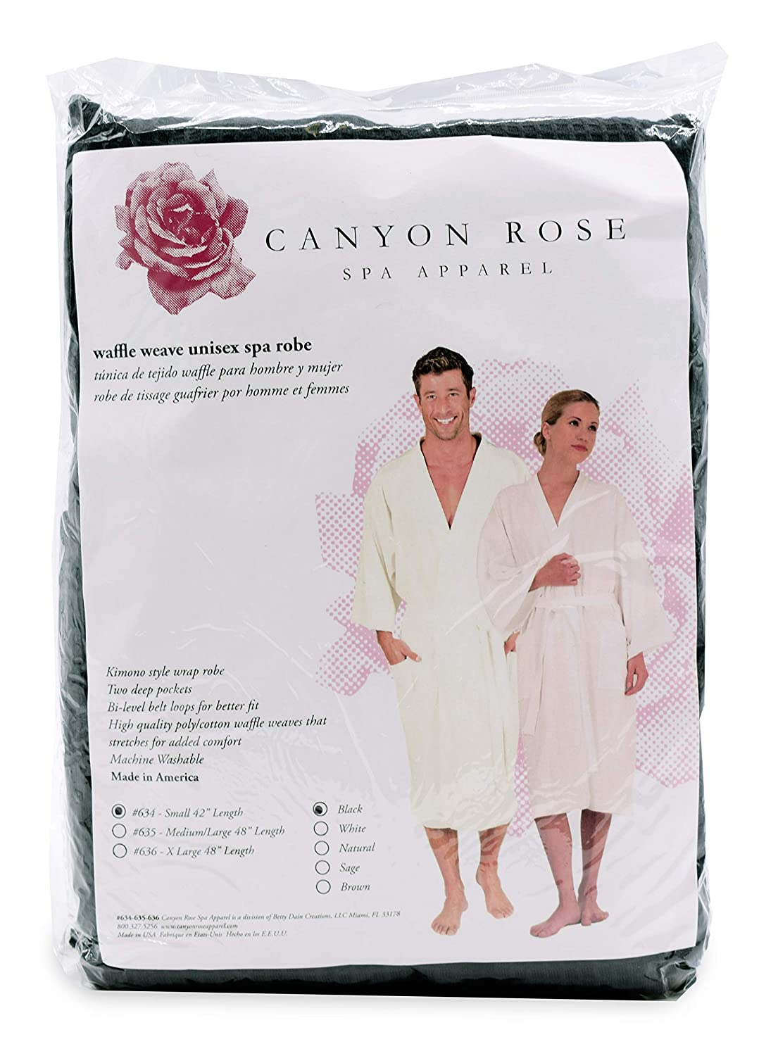 Canyon Rose Unisex Waffle Weave Ranking TOP4 Spa Lux Robe Style Kimono Limited Special Price Wrap