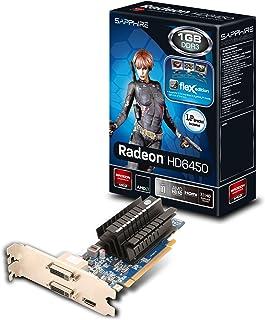 Sapphire Radeon HD 6450 Flex -Tarjeta gráfica PCIe (1 GB DDR3, 2 x DVI, HDMI LP Passive)