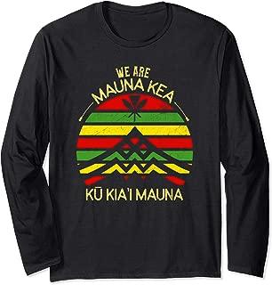 Kanaka Maoli Flag - We Are Mauna Kea. No TMT Long Sleeve T-Shirt