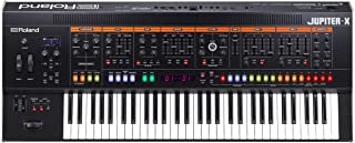 Roland JUPITER-X Professional Iconic Synthesizer with Legendary Sound and Design. Featuring ZEN-Core Synthesis System, Ever-expandable, 5 Parts, Built for Studio and Stage.