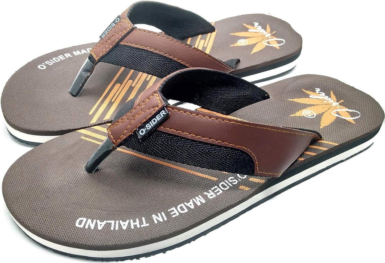 O Sider Men Sandal Flip-Flops Dark Brown (8)
