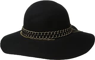 Women's Mixed Metal Wool Felt Floppy Hat