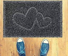 Majo Lifestyle Vloermatten voor binnen en buiten, robuuste rubberen deurmatten, badkamertapijt, voetmat voor buiten, grijs