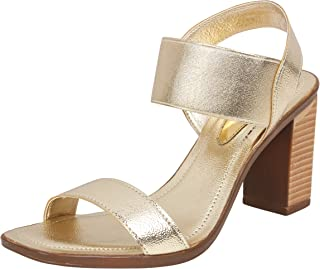 Catwalk Women's Metallic Ankle Strap Sandals
