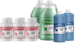 Shipper Value Pack (3-Detergent, 2-Chlorine, 2-Rinse), Commercial Grade,