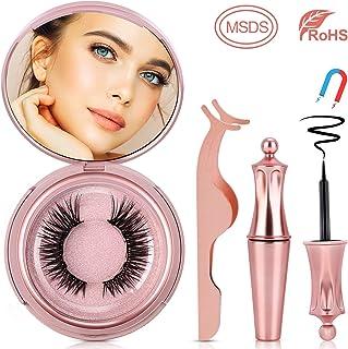 Magnetic Eyelashes, Homga Magnetic Eyeliner and Lashes,Reusable 3D Magnetic Lashes with Magnetic Eyeliner Kit Waterproof Magnetic Liquid Eyeliner With Magnetic False Lashes