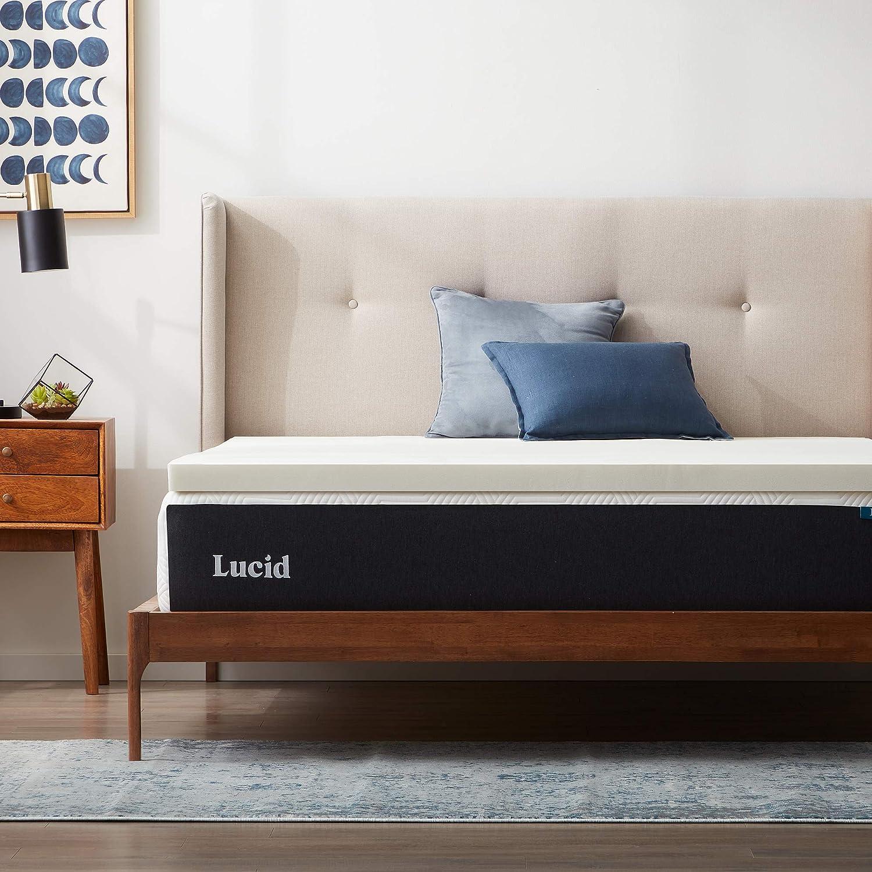 数量限定アウトレット最安価格 LUCID 2InchDunlop Latex Mattress 新品■送料無料■ Twin Topper XL