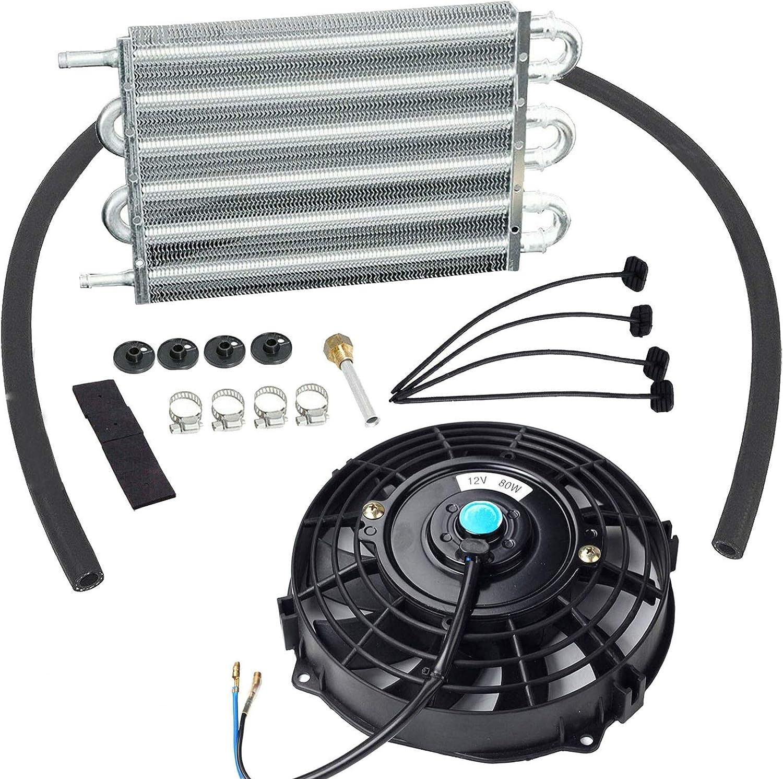 Universal 6 Row Popular brand Radiator Remote Colorado Springs Mall Aluminum Oil Cooler Transmission