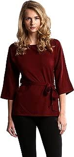 Women's 100% Merino Wool Dolman Sleeve Wrap Wool Top