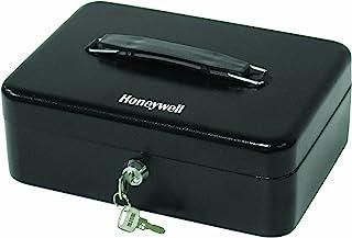 Honeywell Safes & Door Locks - 6112 Standard Steel Cash Box with Key Lock, Black, 7.4x9.8x3.9