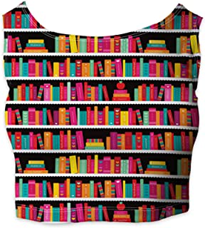 Rainbow Rules Library Book Case Sleeveless Crop Top