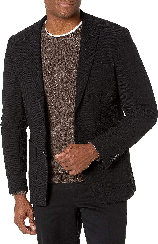 Perry Ellis Men's Slim Fit Textured Stretch Jacket