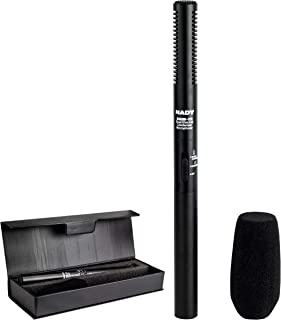 Nady SGM-12 Condenser Shotgun Microphone - Selectable polar pattern, can mount to a video camera for speech and instrument recording, powered with an AA battery