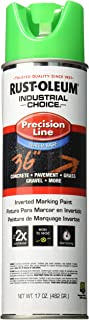 Rust-Oleum Corporation 205176 Rust oleum M1800 System Precision Line Inverted Water Based Marking Spray Paint, Fluorescent 17-Ounce Green