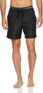 Calvin Klein Men's Core Solids Double Logo Waistband Swim Shorts