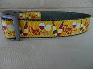 Schmoopsie Couture Wine Theme Dog Collar