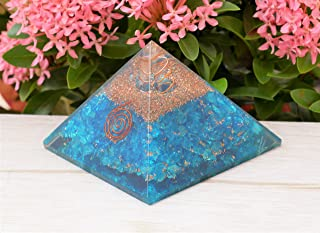 Crocon Blue Onyx Stone Pyramid   Reiki Crystal Healing   Feng Shui   Attract Good Luck   Chakra Balancing   Spiritual   En...