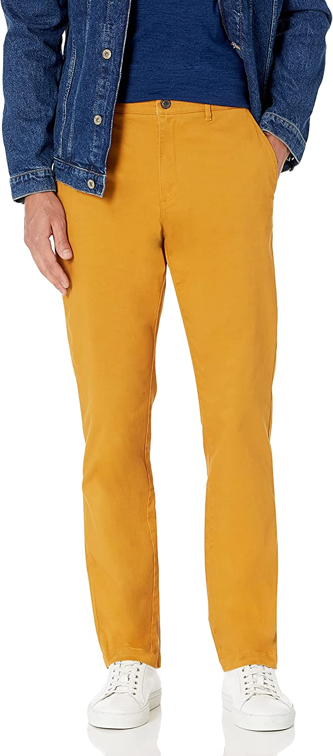 NEW before selling Goodthreads Men's Straight-Fit Washed Pant OFFicial shop Chino Stretch Comfort