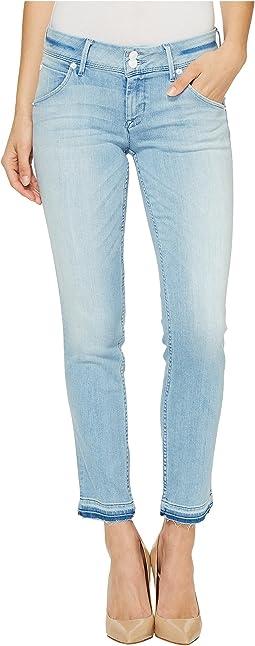 Collin Skinny Crop Released Hem Flap Pocket Jeans in Light Azure